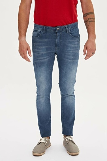 DeFacto Pedro Slim Fit Denim Pantolon Mavi